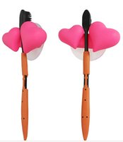 Wholesale Novel Cute Loving Heart Toothbrush Holder With Suction Cups