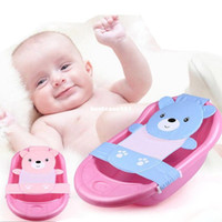 baby shower patterns - Hot sale Adjustable baby bathtub cartoon pattern Newborn Safety Security Bath Seat Support Baby Shower Baby Bath shower product