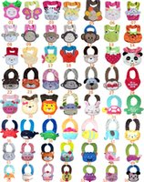 Wholesale Cute designs Baby Bibs layer waterproof D Cartoon Animals BIBs Infant Animal Baby Baby Bibs Burp Cloths bibs