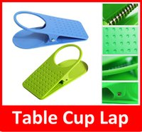 abs table - Sample Table Cup Lap ABS Table Desk Cup Holder Clip Folder colorful water cup holder Drink Clip Colors Blue Pink Orange Green yellow