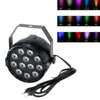 Wholesale Aluminium Shell w LIXADA LED Stage Light RGBW Par Light Strobe Professional Channel Party Disco Ballroom Lighting Effect DHL L0581