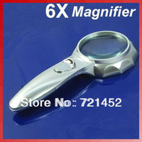 Wholesale J35 X MM Handheld Magnifying Glass Reading Map Magnifier With LED Light