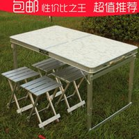 Wholesale Outdoor meters with thick aluminum alloy fission folding tables and chairs can lift hand held portable table