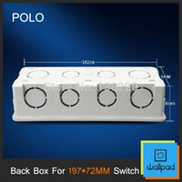 Wholesale Polo Back Box MM Cassette Universal White Wall Mounting Box for Wall Switch and Socket
