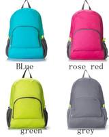 Wholesale The portable Zipper Soild Nylon Daily Traveling Backpacks Shoulder bags Folding bag