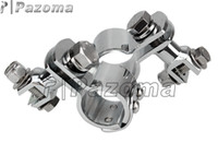 Wholesale PAZOMA Motorcycle Fastening Clips Foot Pegs Chrome Clamp On Highway Footrest quot Engine Guard Footpeg Clamps