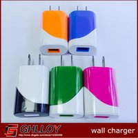 Wholesale USB charger EU US Plug Wall Charger elliptical egg roll AC Home Travel Charger Adapter For Samsung iPod iPad Smartphones LG HTC