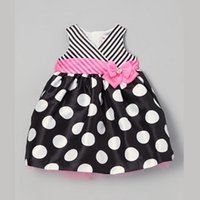 clothing manufacturers - 2015 Summer Korean children dress princess dress striped dot sleeveless clothing manufacturers
