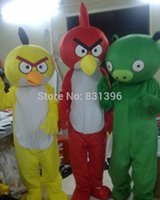 Wholesale 2015 High Quality Birds And Pig Mascot Costume Christmas Party Birds pig Costumes