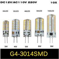 Corn ac dc body - 10X W W W W W G4 SMD LED Crystal lamp light DC V AC V V Silicone Body LED Bulb Chandelier