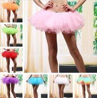 adult halloween tutus - 2016 Cheap In Stock Layers Adult Women Tutu Tulle Skirt Petticoat Dance Rave Neon Party Halloween Christmas Colorful Underskirt