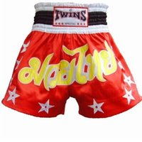 Bowling Others Men Wholesale-Mens Tiger Muay Thai Sanda Boxing Trunks Cheap MMA Shorts Hayabusa Fightwear MMA Kick Boxing Fight Trunks S-XXL Black White Red
