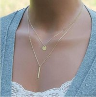 beat club - 2015 Unisex Gift Limited Multi Layer Necklace Gold Jewelry Trade Explosion Models Street Beat Branded Simple Aesthetic Sequined Club C1151
