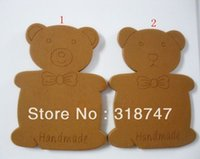 Wholesale MM Wooden Coiling Plate DIY Craft Materials Cartoon Bear Ribbon Twine Board