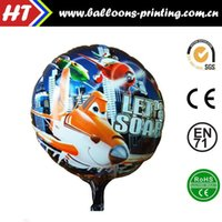 aircraft pricing - 50pcs alumnum balloons Festival party supplies Magic price inch round aluminum aircraft moving round the total foreign trade self seali