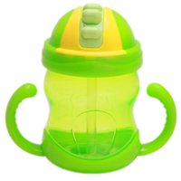 Wholesale Cute Baby Kids Feeding Drinking Straw Bottle Sippy Training Cup ml Baby Kid Handle Learn Drinking Training Cup DP674113