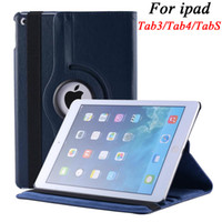 Wholesale 360 Degree Rotating Litchi PU Leather Case For iPad Mini Air Air2 Samsung Galaxy Tab S T700 T800 P3200 P5200 T230 T530