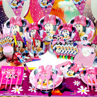 Wholesale Children s theme packages birthday party supplies kind sets of Mickey Minnie theme birthday suit