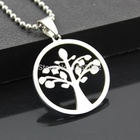 amulet fashion - Fashion Jewelry Men Women s Stainless Steel Celtic Tree of Life Charm Pendant Beads Chain Necklace Amulet Gift MN308