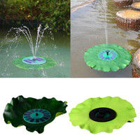 Wholesale Floating Solar Power Fountain Water Pump Lotus Leaf Fountain Kit For Pool Pond Garden Yard Fish Tank Watering Brushless Pump