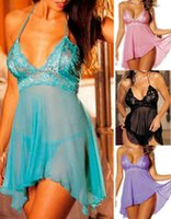 Wholesale Sexy Lingerie Nightwear underwear Ladies sleepwear Baby doll G string