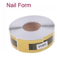 Wholesale 500PcS Roll Golden Nail Form Art Primer Tip Extension tool for Acrylic UV Gel