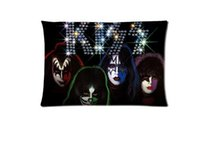 american roll cover - Hot KISS American Rock N Roll Band Custom Zippered Rectangle Pillowcases Pillow Cover Cases Size x24inch Two sides U2