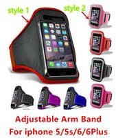 Neoprene ear covers - Stylish WaterProof Sports Gym Running Armband Protector Soft Pouch Case Holder Cover with ear net For iphone plus samsung smart phone