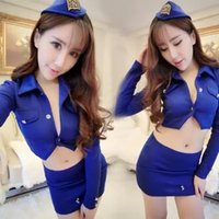 airlines game - new sexy lingerie sexy skirt uniform temptation game open diamond transparent suit airline stewardess service