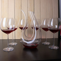 Wholesale cyrstal wine glass set with a decanter