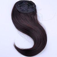 Wholesale Fashion Professional Fringe Natural Hair Bangs g cm Clips In Blended Hair Hairdo False Hair Styling Bang Franja de cabelo