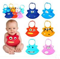 Wholesale Waterproof Silicone baby bibs Infant Feeding Baby Kid Bib Animal Design Kid Washable Silicone baby bibs