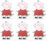 Wholesale New pig Metal Charms Pendants Jewellery Making