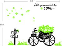 bicycle quotes - 1 Set Large All you lead is love quotes bicycle decorative wall stickers ZY722 Living Room Decoration Art wall stickers