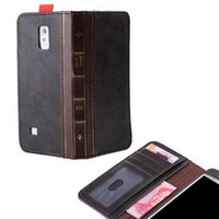 Wholesale Drop Shipping Retro Vintage Old BOOK Style Leather Case Flip Cover Wallet For Samsung Galaxy S3 S4 S5 Samsung Galaxy Note