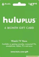 send - Hulu Plus month months ONLY USA Gift Subscription Gift Card send code Only