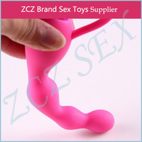 Wholesale ZCZ Silicone Vibrating vagina anal beads vibrator waterproof Sex toy for men women Anal vibe soft silicon anal sex toys DX205