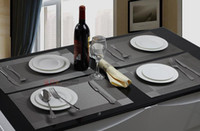 Wholesale PVC Textilene Placemats Silver Dining Table Mat Heat Insulation Table Decoration CM Set of