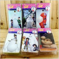 Cheap 2015 Big Hero 6 baymax PVC white box latchkey bag hard bus ID card portable holders cell phone bag kid birthday gift prize TOPB2514 300PCS