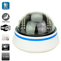Wholesale hot selling dome cctv h p2p wireless home and Office business security Network IP cameras surveillance systems