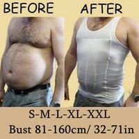underwear - New Men s Slim Moisture Minus the Beer Belly Shaping Underwear Abdomen Body Sculpting Vest Shapers Body Sculpting T shirt Body Shaper