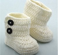 Cheap Unisex baby shoes Best Spring / Autumn Cotton Crochet baby shoes