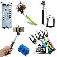 Wholesale 2015 Hot Sale selfie stick with cable Handheld Stick Monopod For iphone Samsung s5 Android Mobile Phone