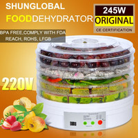 dehydrator - Digital Food Dehydrator Fruit Drying Machine Meat Vegetable Herb Drier with TIMER LCD DISPLAYER TRAYS V KITCHEN APPLIANCES A3