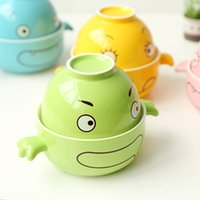 Cheap Wholesale-Creative Cartoon Cute Ceramic Large Instant Noodles Bowl Microwave Japanese Style Ramen Noodles Bowl