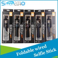 Wholesale Selfex Mini foldable selfie stick with built in shutter rd generation for apple android phone Battery Free with Adjustable Phone Holder