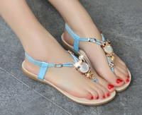 Wholesale Women sandals flats summer shoes women summer style flat heel flip flops women shoes plus size
