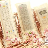 aired on tv - pieces Rural Style TV Air Conditioning Remote Control Protective Film Lace Flower Adornment Control Remoto Cubierta New