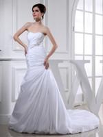 bead sewing - Elegant Mermaid Trumpet Hand Made Sewing Beaded Waist Satin Wedding Dresses Trend Smaple Sale Nyc