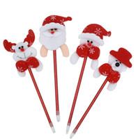 Wholesale 100Pcs Santa Claus ballpoint pen christmas gift Christmas decorations Ballpoint pen Favor gift party supplies Christmas Hot Sale